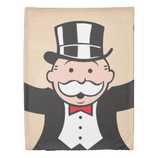 Monopoly | Uncle Pennybags With Cane Duvet Cover