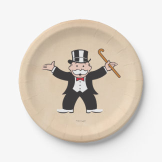 Monopoly | Uncle Pennybags With Cane Paper Plate