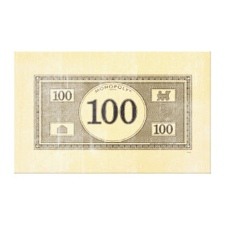 Monopoly | Vintage 100 Dollar Bill Canvas Print