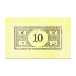 Monopoly | Vintage 10 Dollar Bill Canvas Print