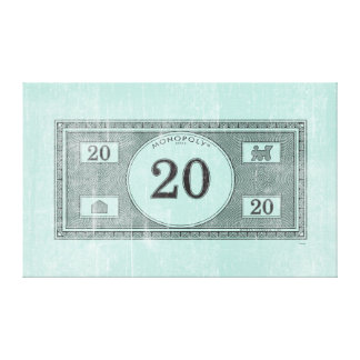 Monopoly | Vintage 20 Dollar Bill Canvas Print