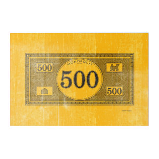 Monopoly | Vintage 500 Dollar Bill Acrylic Wall Art