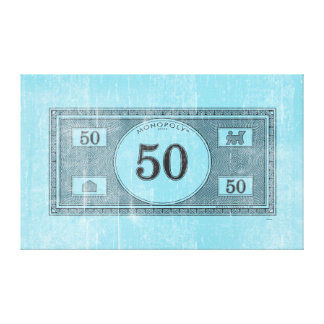 Monopoly | Vintage 50 Dollar Bill Canvas Print
