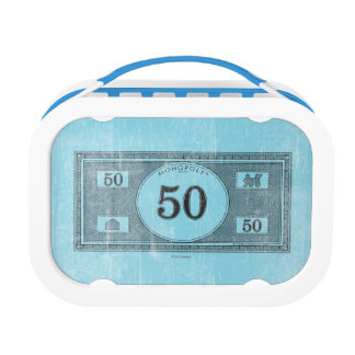 Monopoly | Vintage 50 Dollar Bill Lunch Box
