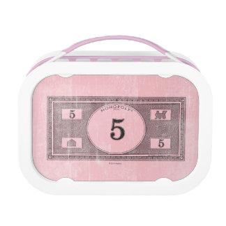 Monopoly | Vintage 5 Dollar Bill Lunch Box