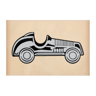 Monopoly | Vintage Car Acrylic Wall Art