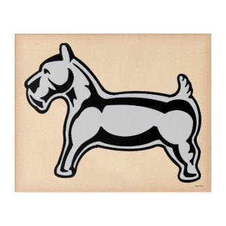 Monopoly | Vintage Dog Acrylic Wall Art