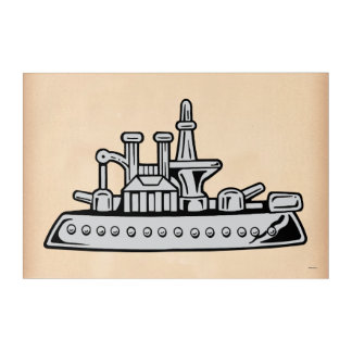 Monopoly | Vintage Ship Acrylic Wall Art
