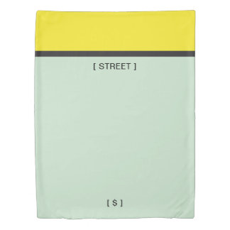 Monopoly | Yellow Space Duvet Cover