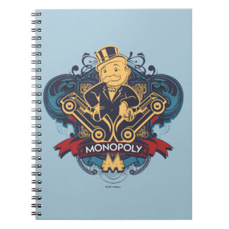Monopoly Yellow Spiral Notebook