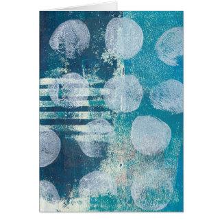 Monoprint Abstract 70255 Greeting Card