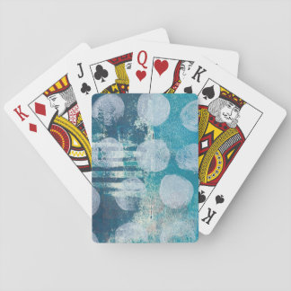 Monoprint Abstract Turquoise 170255 Playing Cards