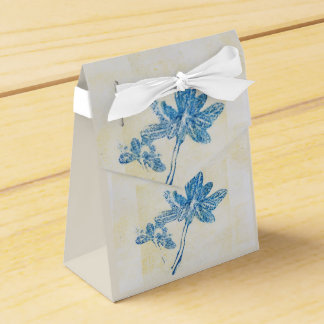 Monoprint Floral Blue 170263/1 Favor Box