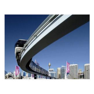 Monorail in Darling Harbor, Sydney, Australia Postcard