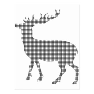 Monotone classic deer postcard
