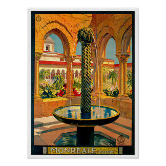 Monreale Palermo Sicily Italy Travel Art Poster