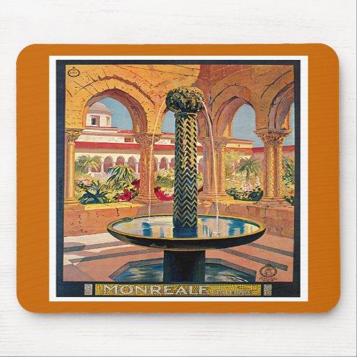 Monreale Vintage Travel Advertisement Mousepads