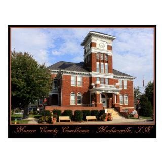 Monroe County Courthouse - Madisonville, TN Postcard