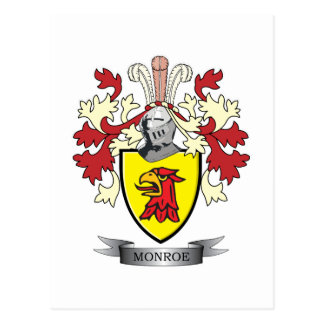 Monroe Family Crest Coat of Arms Postcard