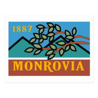Monrovia Flag Postcard