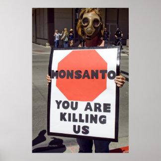 Monsanto Protester Poster