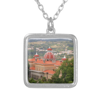 Monserrate Palace, near Sintra, Portugal Silver Plated Necklace
