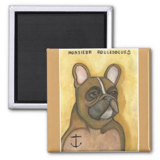 """Monsieur Bouledogue"" French Bulldog magnet"