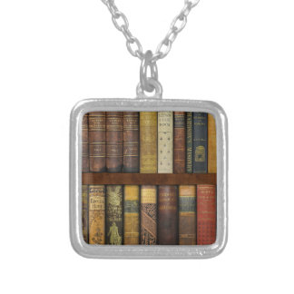 Monsieur Fancypantaloons' Instant Library Bookcase Silver Plated Necklace