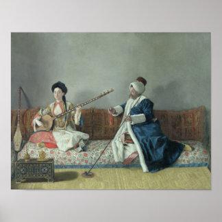 Monsieur Levett and Mademoiselle Helene Poster
