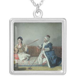 Monsieur Levett and Mademoiselle Helene Silver Plated Necklace