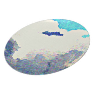 Monsoon Clouds in Oil Melamine Plate