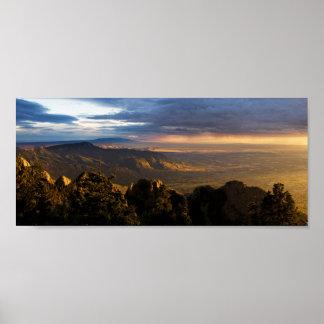 Monsoon over Albuquerque Poster
