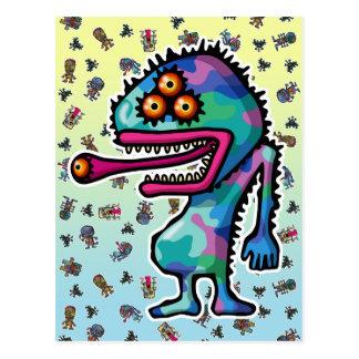 monster4 postcards