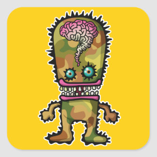 monster5 stickers carrés