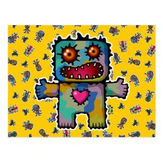 Monster 1 post card