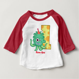 Monster 1st Birthday Custom Baby T Shirt