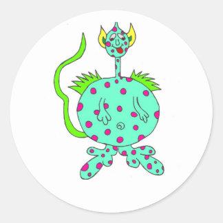 monster 2 round sticker