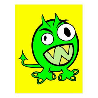 monster-303508 monster alien green lime scary FUNN Postcards