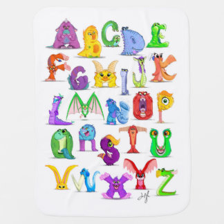 Monster Alphabet Baby Blanket