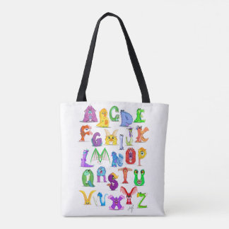 Monster Alphabet Tote Bag