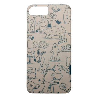 Monster and Animals - Doodles - iPhone 8 Plus/7 Plus Case