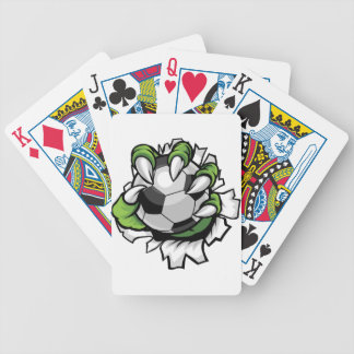 Monster animal claw holding Soccer Football Ball Poker Deck