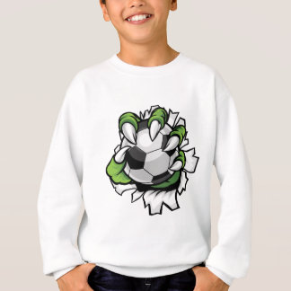 Monster animal claw holding Soccer Football Ball Sweatshirt
