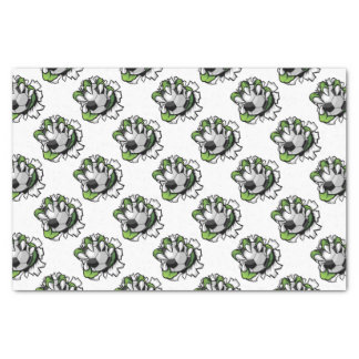Monster animal claw holding Soccer Football Ball Tissue Paper