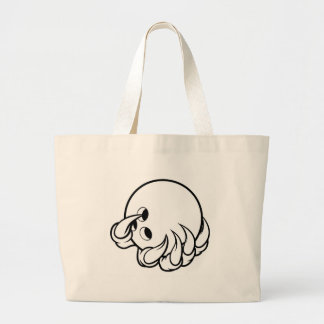 Monster animal claw holding Ten Pin Bowling Ball Large Tote Bag