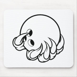 Monster animal claw holding Ten Pin Bowling Ball Mouse Pad