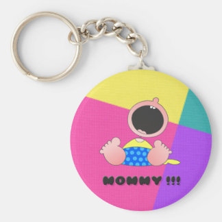 Monster Baby Boy Keychain