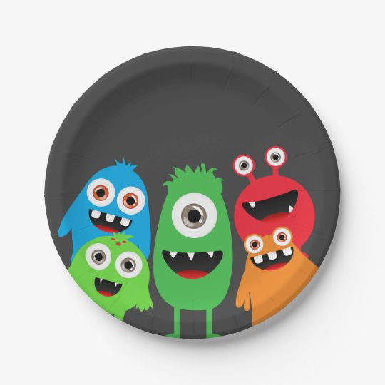 Monster Bash 7 Inch Paper Plate