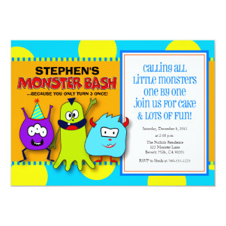 Monster Bash Birthday Invitations