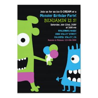 Monster Birthday Ice Cream Kids Party Invitation
